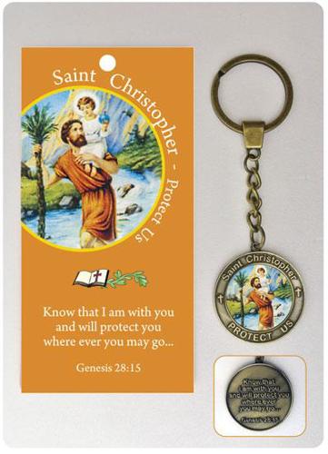 Picture of Keyring - St. Christopher (+Leaflet)