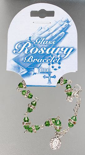 Picture of Glass Rosary Bracelet/Green