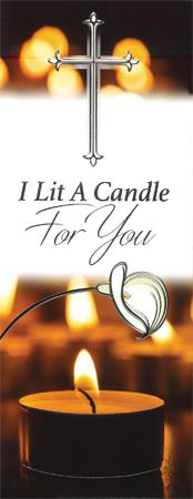 Picture of Card - I Lit a Candle