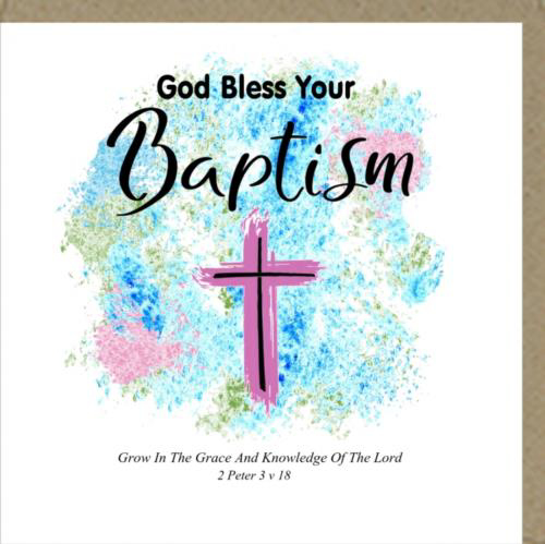 Picture of Card - Baptism