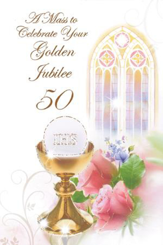 Picture of Golden Jubiliee Mass Card - 50 Years of Priesthood