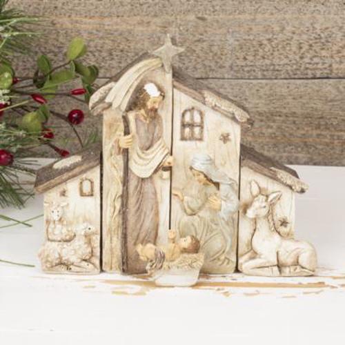 Picture of Nativity Scene - 4 Part  16cm x 16cm x 4cm