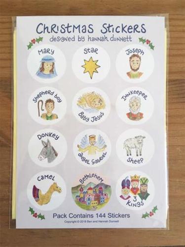 Picture of Christmas Sticker Set - Hannah Dunnett