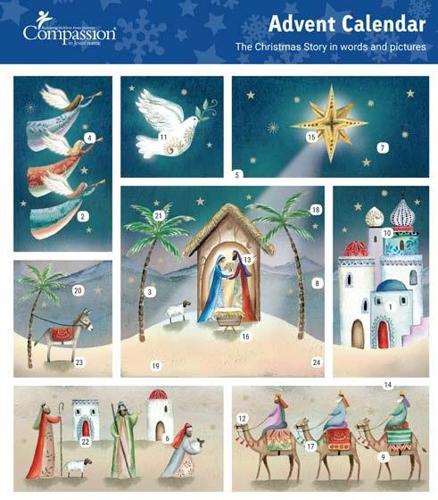 Picture of Advent Calendar: Christmas Scene