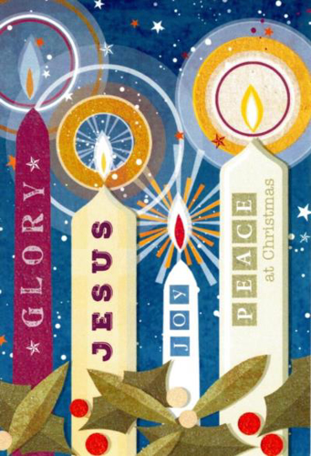 Picture of Christmas Candles - Pack of 10 cards