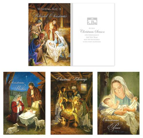 Picture of Christmas Blessings - 16 Cards (4 Designs)