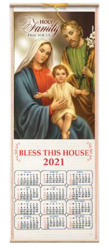 Picture of Wood Scroll Calendar - Holy Family