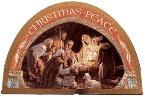 """Picture of Wood Nativity Plaque - 7 4.75"""""""