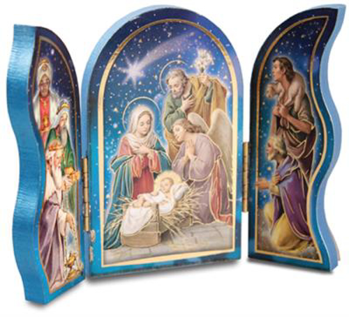 Picture of Wood Nativity Triptych 5.25 x 7.5 inch