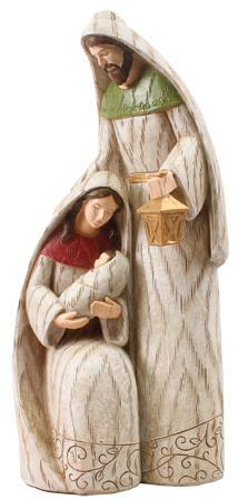 """Picture of Holy Family Resin Nativity Statue 9.5"""""""
