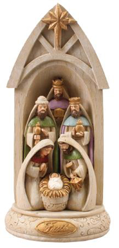 Picture of Resin Holy Family Nativity Scene 10.25""
