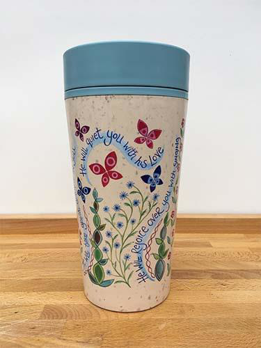 Picture of Reusable Mug: He Will Rejoice Over You