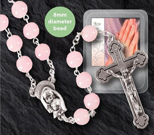 Picture of Glass Rosary - Pink
