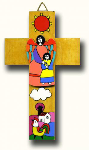 Picture of Angel With Girl Cross 15cm