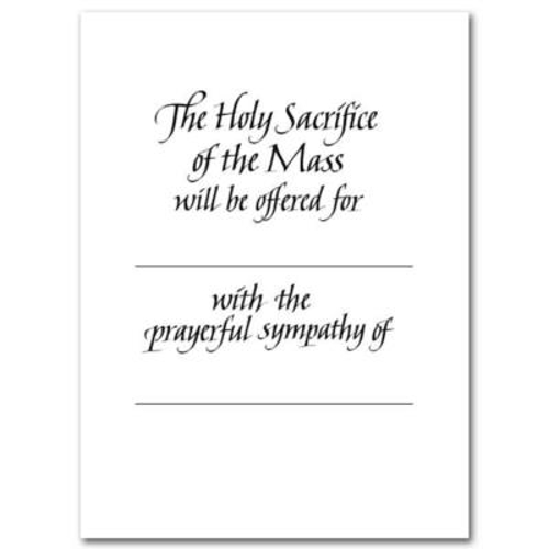 Picture of A Sympathy Mass Card