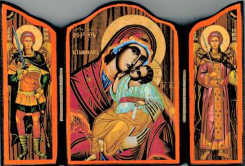 Picture of Triptych Icon: Madonna & Child