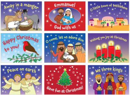 Picture of Nativity Stickers - Pack 45