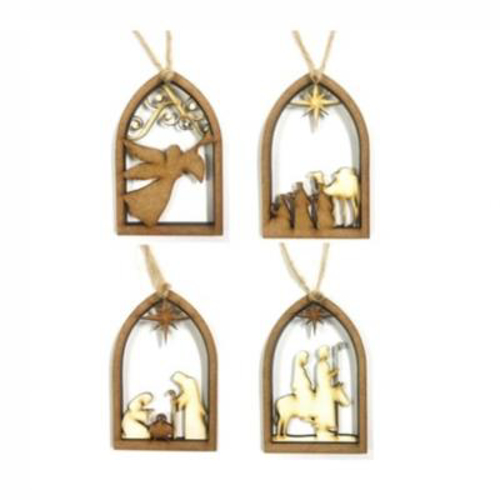 Picture of Christmas Nativity - 4 Piece Set