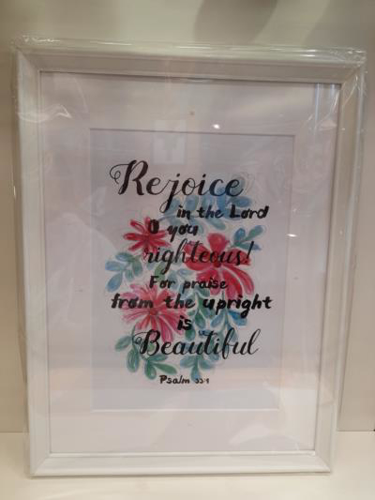 Picture of Framed A4 Picture: Rejoice In The Lord