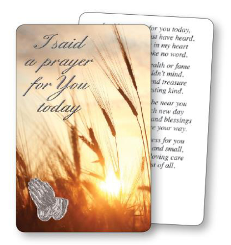 Picture of Prayer Card - I Said A Prayer
