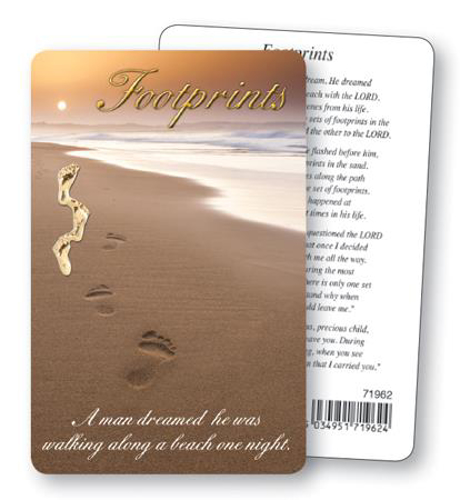 Picture of Prayer Card - Footprints
