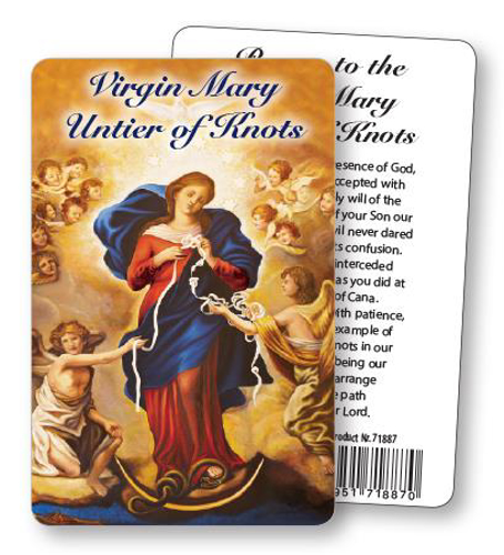 Picture of Prayer Card - Our Lady Untier of Knots