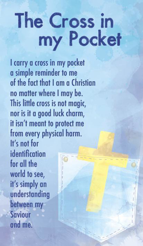Picture of Prayer Card - Cross in My Pocket