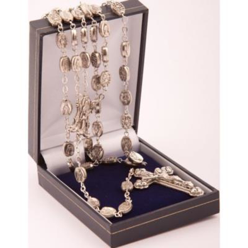Picture of Metal Miraculous Medal Rosary Beads