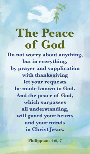 Picture of Prayer Card - Peace of God