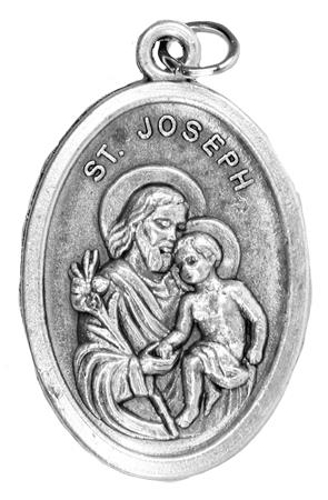 Picture of St. Joseph: Oxidised Medal