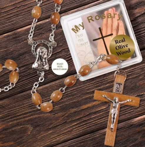 Picture of Olive Wood Rosary Beads