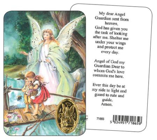 Picture of Prayer Card - Guardian Angel