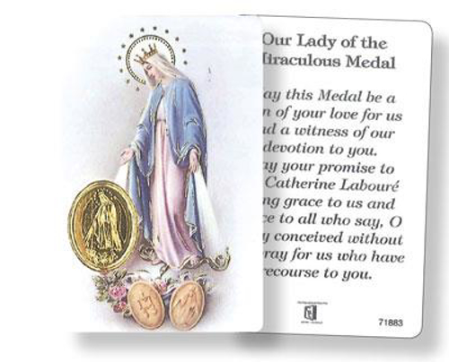 Picture of Prayer Card - Miraculous Medal