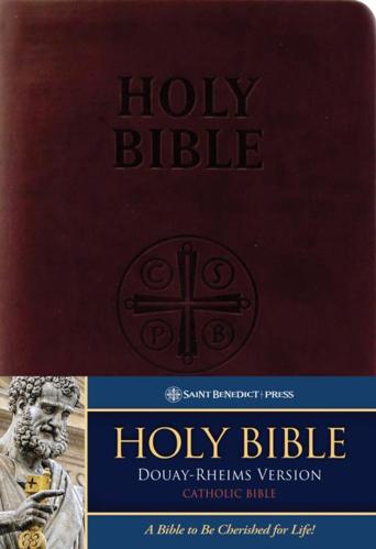 Picture of Douay-Rheims Bible: Burgandy