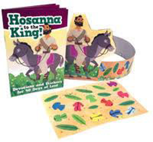 Picture of Hosanna to the King: Devotions & Stickers for 40 Days of Lent