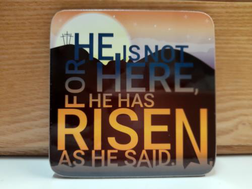 Picture of Easter Coaster - He is Risen
