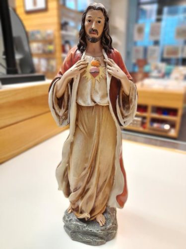 Picture of Resin Statue - Sacred Heart 14 inch