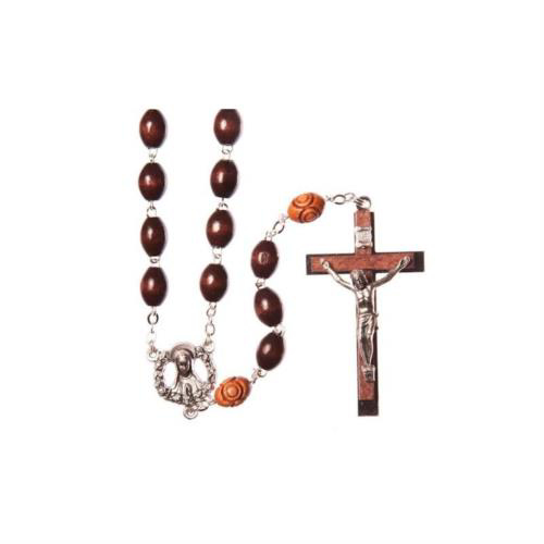 Picture of Wood Rosary - Brown