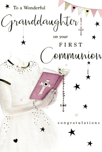 Picture of To a Wonderful Granddaughter on your First Communion