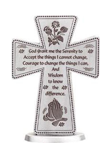 Picture of Standing Cross - Serenity Prayer
