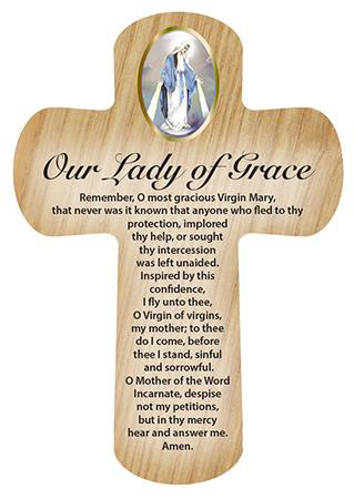 Picture of Wood Pocket Cross - Our Lady of Grace
