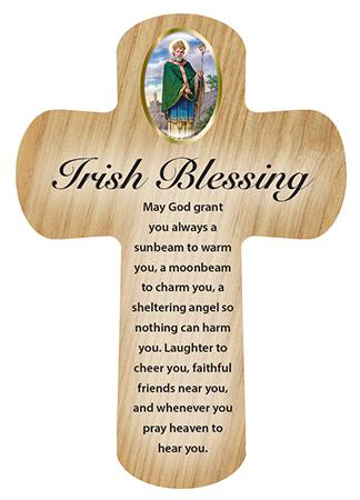 Picture of Wood Pocket Cross - Irish Blessing