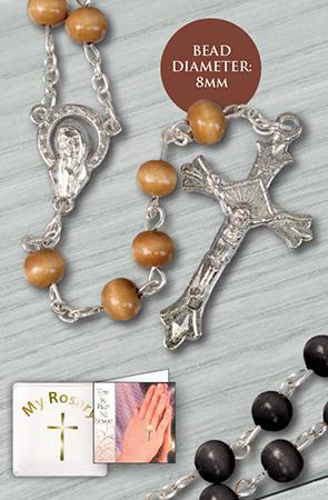 Picture of Brown Wood Rosary Beads