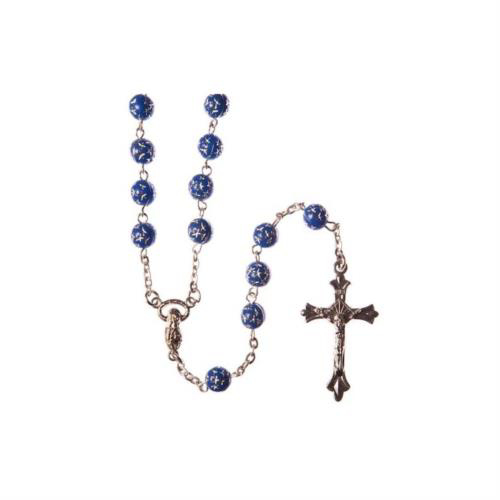 Picture of Acrylic Rosary with Star Pattern - Blue