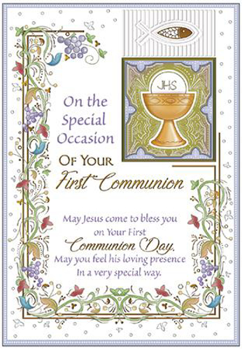 Picture of 1st Communion Card - Symbolic