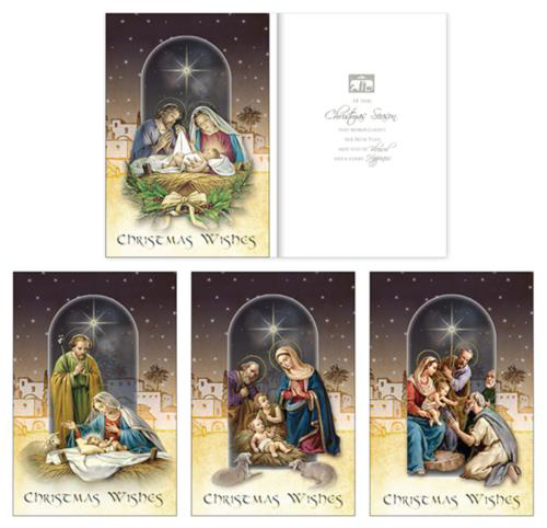 Picture of Christmas Wishes - 18 Cards (4 Designs)