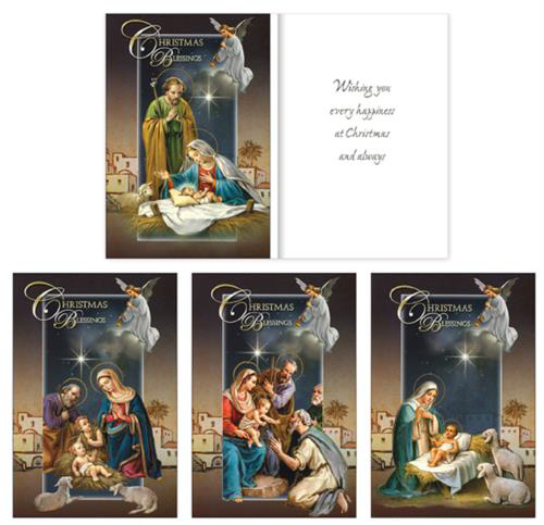 Picture of Christmas Blessings - 18 Cards (4 Designs)