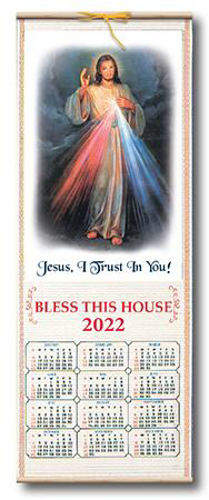 Picture of Wood Scroll Calendar - Divine Mercy