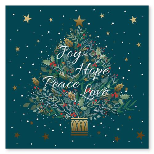 Picture of Joy Hope Peace Love - Pack of 10