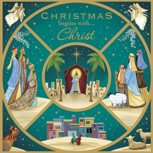 Picture of Christmas begins with Christ - Pack of 10